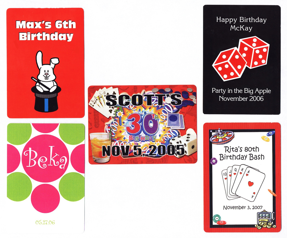 Personalized Playing Cards For Birthdays
