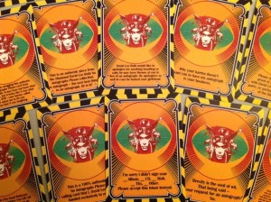 Personalized playing cards for David Lee Roth
